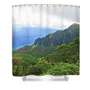 Kalalau Trail Overlook Shower Curtain