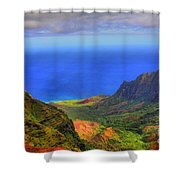 Kalalau Valley Shower Curtain