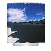 Kalapana Black Sand Shower Curtain