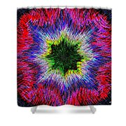 Kaleidomicro Shower Curtain