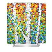 Kaleidoscope Canopy Shower Curtain