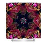 Kaleidoscope Christmas Poinsettia  Shower Curtain