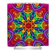 Kaleidoscope Flower 01 Shower Curtain