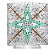 Kaleidoscope Of Winter Trees Shower Curtain