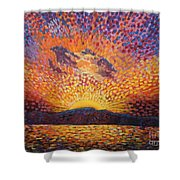 Kaleidoscope Sunrise Shower Curtain