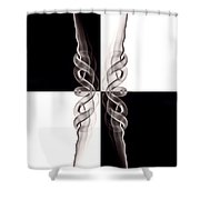 Kaleidosmoke 1 Shower Curtain