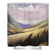 Kalihi Valley Art Shower Curtain
