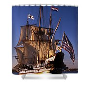 Kalmar Nyckel Shower Curtain by Skip Willits
