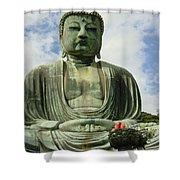 Kamakura Daibutsu Shower Curtain