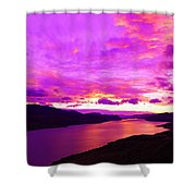 Kamloops Lake At Dawn Shower Curtain