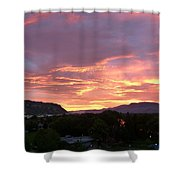 Kamloops Sunset 2 Shower Curtain