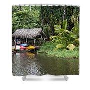 Kamokila Hawaiian Village - Kauai Shower Curtain