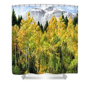 Kananaskis Autumn Morn Shower Curtain
