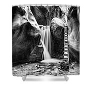 Kanarraville Falls Bw Shower Curtain