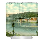 Kanawha Bridge Shower Curtain