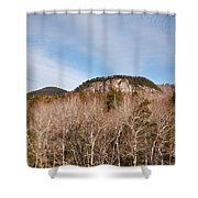 Kancamagus Highway - White Mountains New Hampshire - Rocky Cliff Shower Curtain