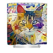 Kandinsky Cat Shower Curtain