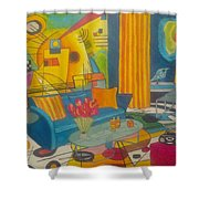 Kandinsky Living Room Shower Curtain