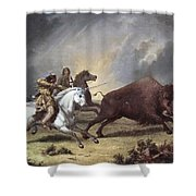 Kane: Buffalo Hunt Shower Curtain