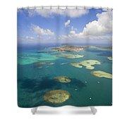 Kaneohe Sandbar Shower Curtain