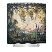 Kangaroo Kingdom Shower Curtain