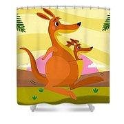 Kangaroos Shower Curtain