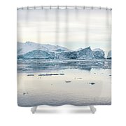 Kangia Icefjord Shower Curtain