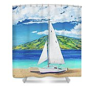 Kanoa At Kaanapali Beach Maui Shower Curtain