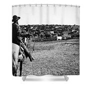 Kansas: Cattle, C1900 Shower Curtain