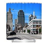 Kansas City Cross Roads Shower Curtain