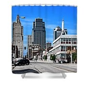 Kansas City Cross Roads Shower Curtain