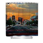 Kansas City Evening Shower Curtain