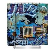 Kansas City Jazz Mural Shower Curtain