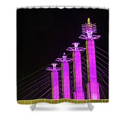 Kansas City Pylons In Pink Shower Curtain