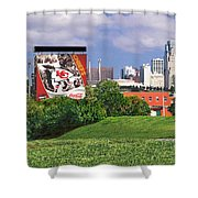 Kansas City Sky Line Shower Curtain