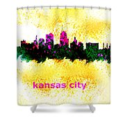 Kansas City Skyline 1 Shower Curtain