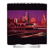 Kansas City Skyline 1991 Shower Curtain
