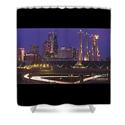 Kansas City Skyline 1998 Shower Curtain