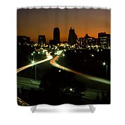 Kansas City Skyline, 1981 Shower Curtain
