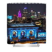 Kansas City Vibrant At Night Shower Curtain
