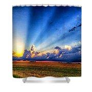Kansas Country Sunset Shower Curtain