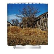 Kansas Farmhouse And Barn Shower Curtain