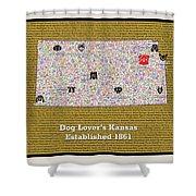 Kansas Loves Dogs Shower Curtain