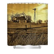 Kansas Pioneer Homestead On The Plains Shower Curtain