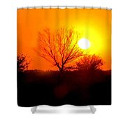 Kansas Sunset Shower Curtain