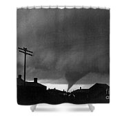 Kansas: Tornado, C1902 Shower Curtain