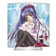 Kao No Nai Tsuki Shower Curtain