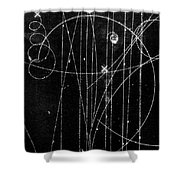 Kaon Proton Collision Shower Curtain by SPL and Photo Researchers