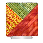 Kapa Patterns Triangle 1 Shower Curtain