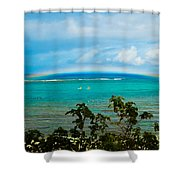 Kapalua Bay Rainbow Shower Curtain